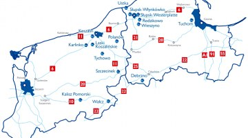 Location map of investment areas under patronage of the Słupsk Special Economic Zone